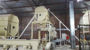 Moreson Hopper being installed above Pellet mill