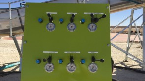 Hydraulic control panel to suit salt washing plant at Opstaan Soutwerke