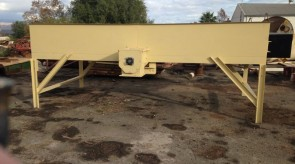 Auger Silo waiting to be assembled on site