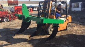 5 Tine Ripper complete with 40mm thick shanks being loaded for transport